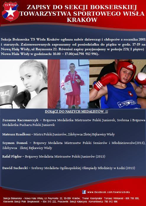 Zapisy do Sekcji bokserskiej